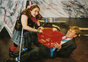 Suzanne and Dan in a scene from  Laughing Wild by Christopher Durang